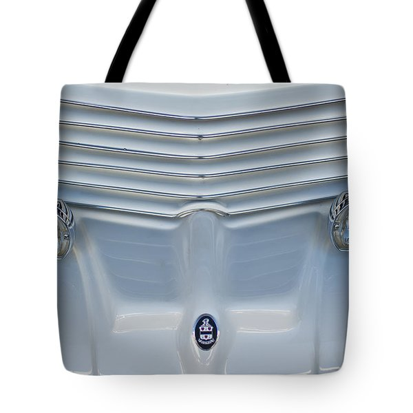 1970 Cord Royale Grille Hood Ornament Tote Bag by Jill Reger