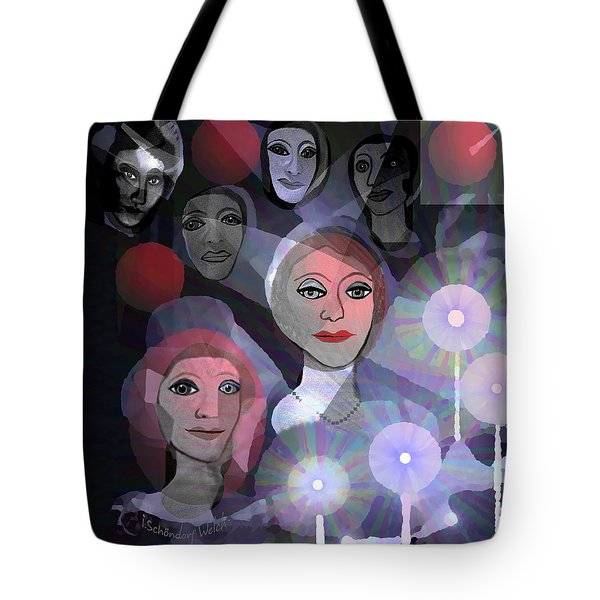 Tote Bag featuring the digital art 1970 - A Ceremony by Irmgard Schoendorf Welch
