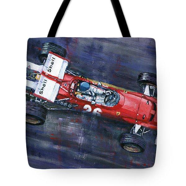 1970 Monaco Gp Ferrari 312 B Jacky Ickx  Tote Bag