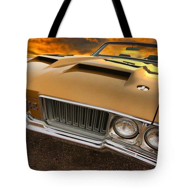 1970 Oldsmobile 442 W-30 Tote Bag by Gordon Dean II