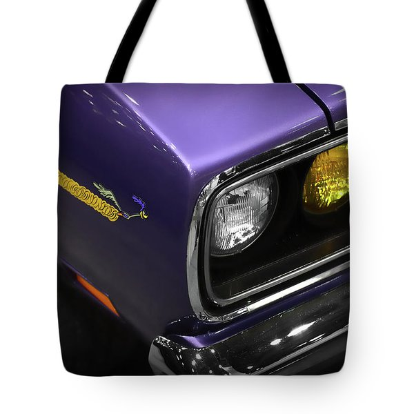 1970 Plum Crazy Purple Road Runner Tote Bag by Gordon Dean II