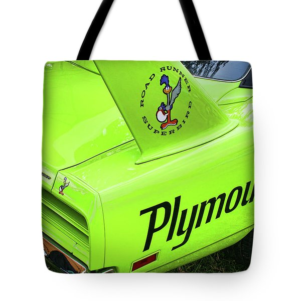 1970 Plymouth Superbird Tote Bag by Gordon Dean II