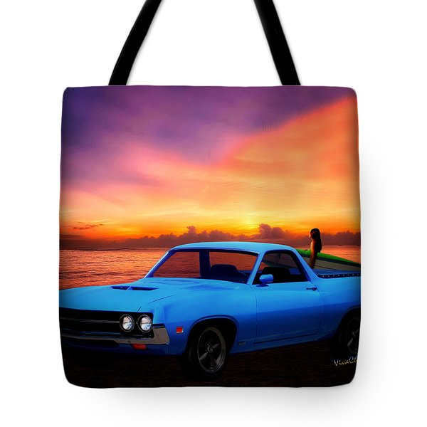 1970 Ranchero Dominican Beach Sunrise Tote Bag