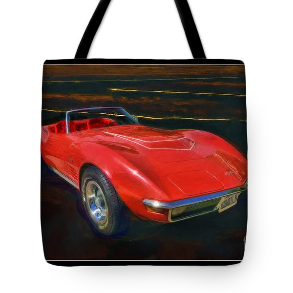 1971 Chevy Corvette Lt1 Tote Bag by Blake Richards