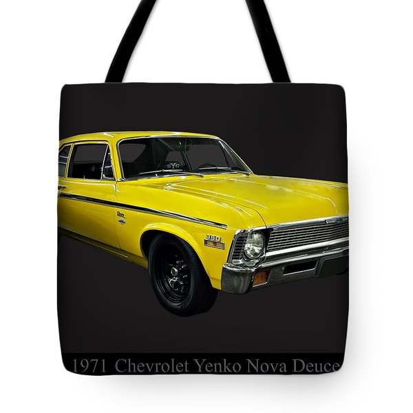 1971 Chevy Nova Yenko Deuce Tote Bag by Chris Flees