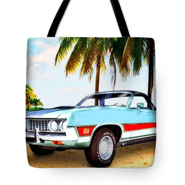 1971 Ford Ranchero At Three Palms - 5th Generation Of Ranchero Tote Bag