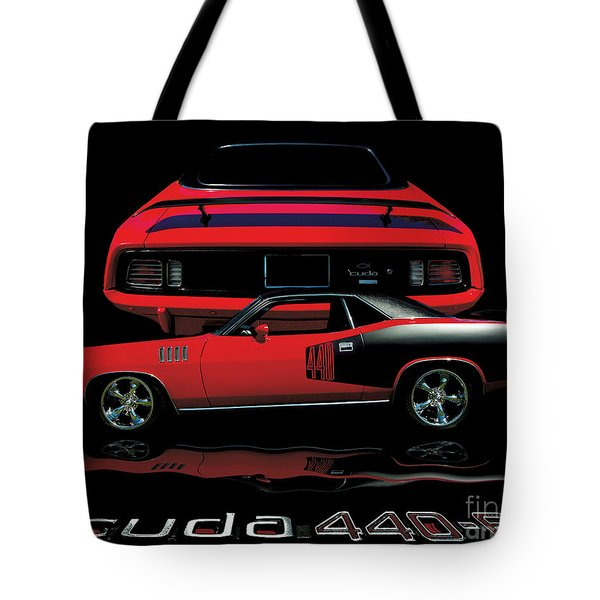 1971 Plymouth Cuda 440 Six Pack    Tote Bag
