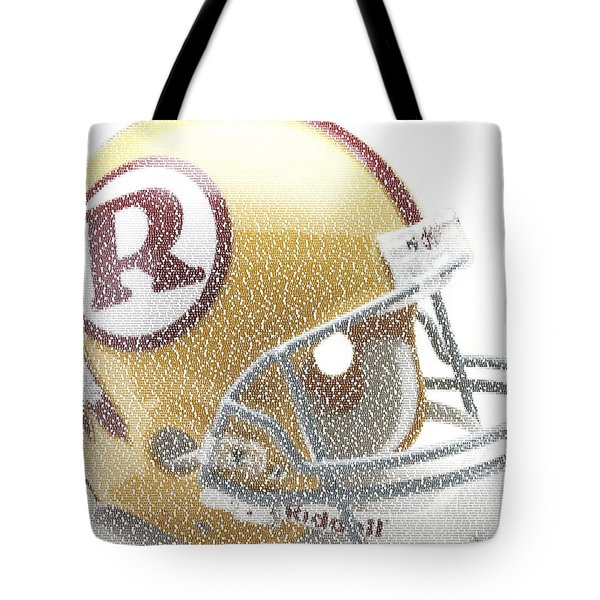 1971 Redskins Helmet Greatest Players Mosaic Tote Bag by Paul Van Scott