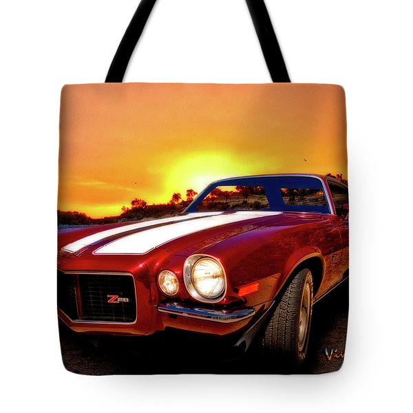 1971 Z28 Camaro Hdr Vivid Remembrance Tote Bag