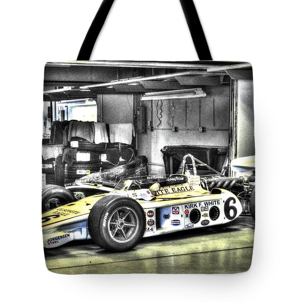 Bobby Unser 1972 Olsonite Eagle Pole Position Car  Tote Bag