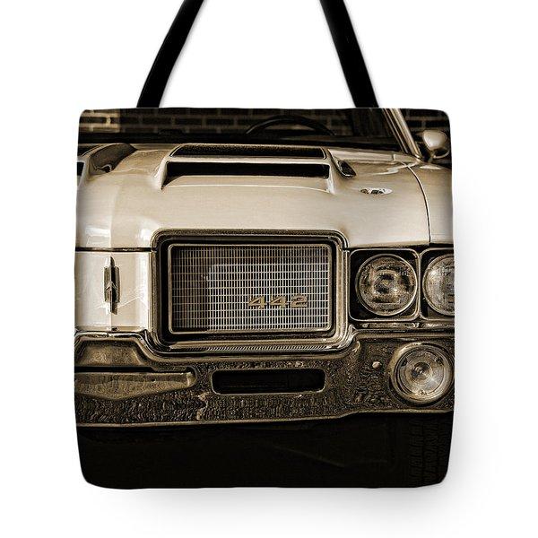 1972 Olds 442 - Sepia Tote Bag