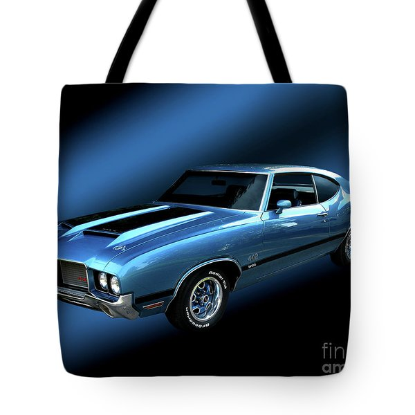 1972 Olds 442 Tote Bag by Peter Piatt