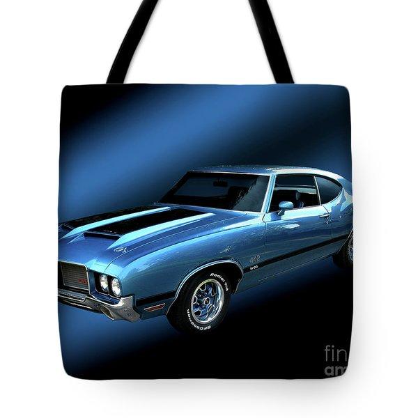 1972 Olds 442 Tote Bag by Peter Piatt