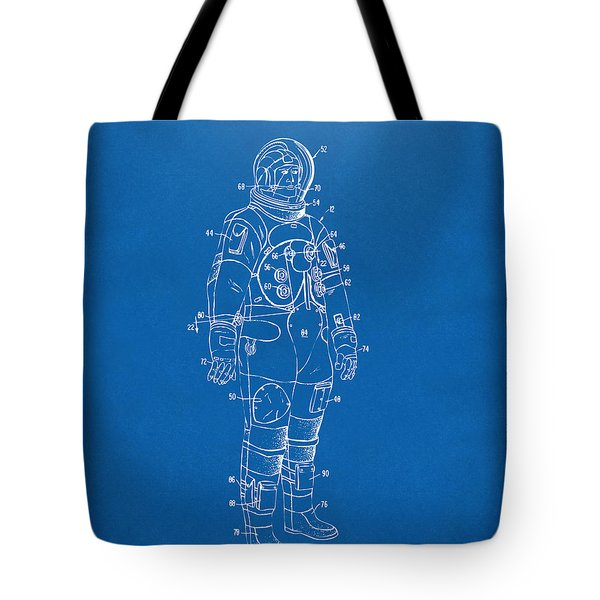 1973 Astronaut Space Suit Patent Artwork - Blueprint Tote Bag by Nikki Marie Smith