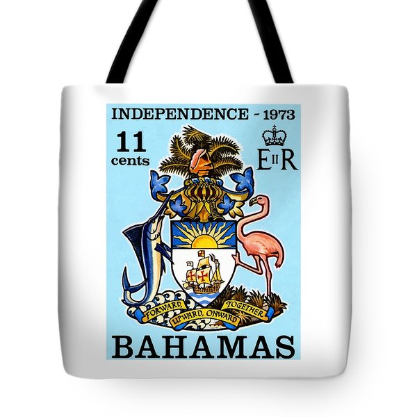 1973 Bahamas Coat Of Arms Postage Stamp Tote Bag