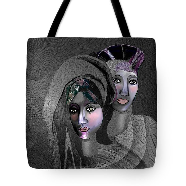 Tote Bag featuring the digital art 1973 - Exotic 2017 by Irmgard Schoendorf Welch