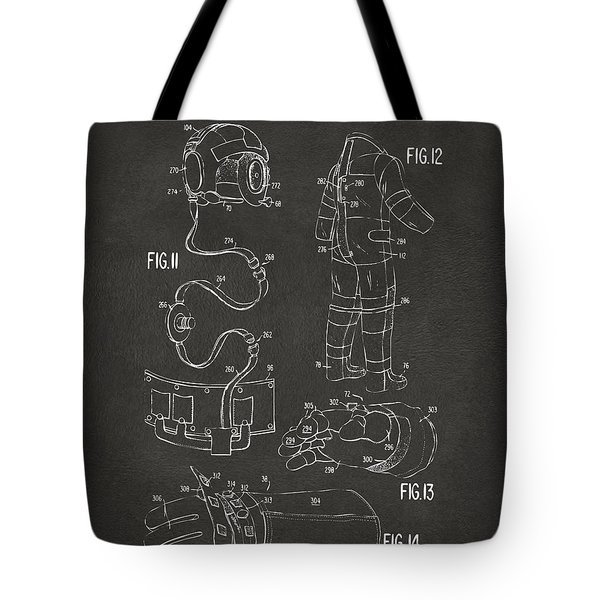 1973 Space Suit Elements Patent Artwork - Gray Tote Bag