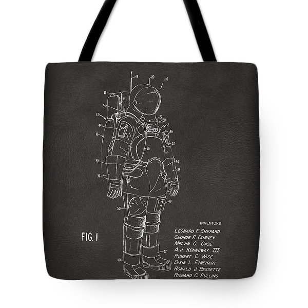 1973 Space Suit Patent Inventors Artwork - Gray Tote Bag by Nikki Marie Smith