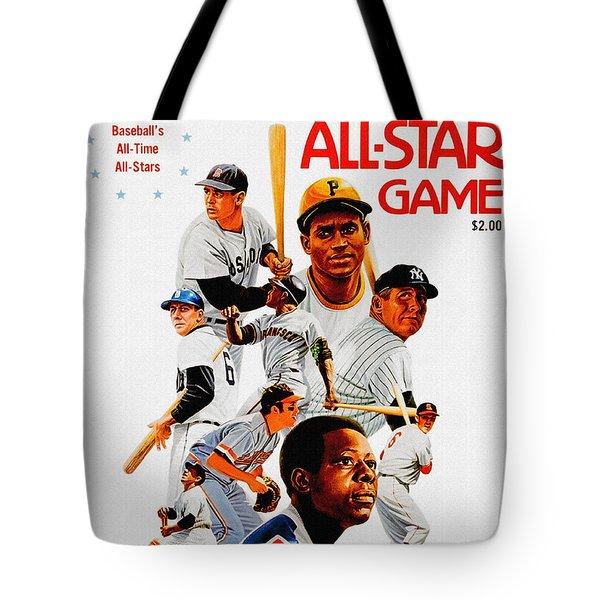 1974 Baseball All Star Game Program Tote Bag