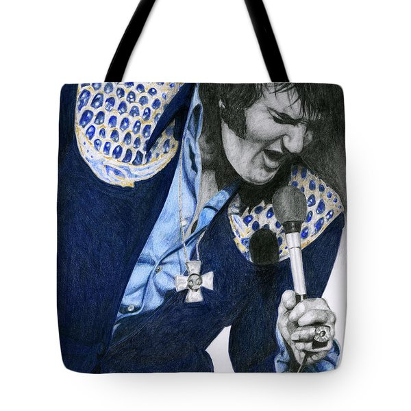 1975 Dark Blue Two Piece Suit Blue Gold Ornaments Tote Bag