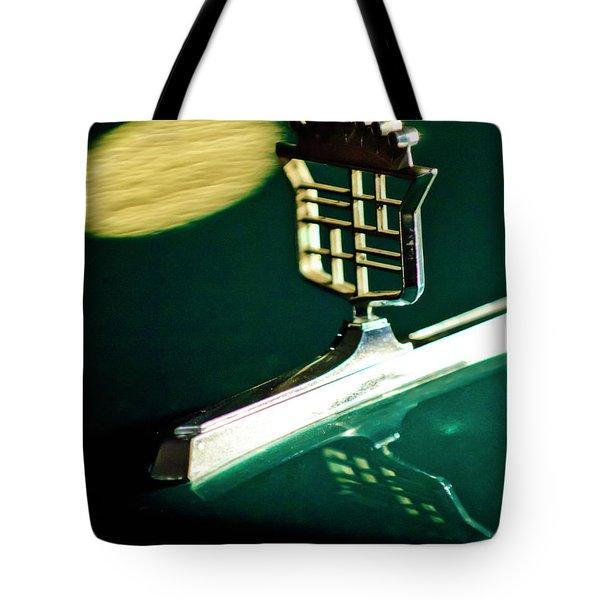 1976 Cadillac Fleetwood Hood Ornament Tote Bag by Jill Reger