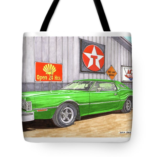 1976 Ford Thunderbird Tote Bag by Jack Pumphrey