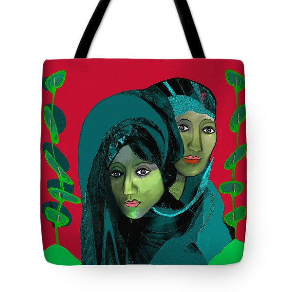 Tote Bag featuring the digital art 1976 - Gloom by Irmgard Schoendorf Welch