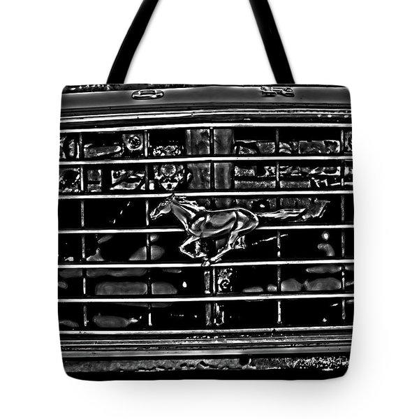 1977 Mustang Grill Tote Bag
