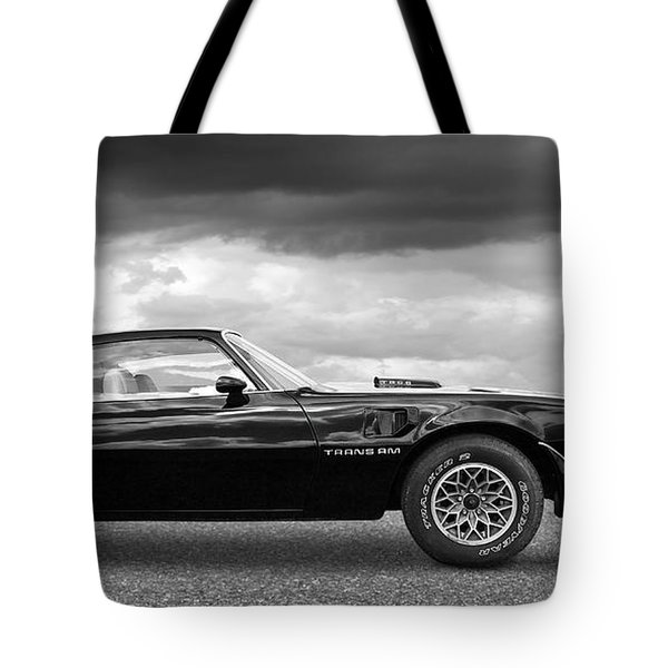 1978 Trans Am In Black And White Tote Bag