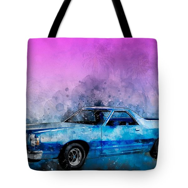 1979 Ranchero Watercolour Of The Last Sport Pickup Truck Tote Bag
