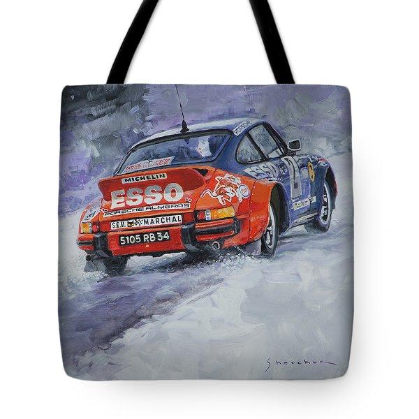 1980 Rallye Monte Carlo Porsche 911 Sc Hannu Mikkola  Tote Bag