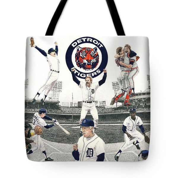 1984 Detroit Tigers Tote Bag