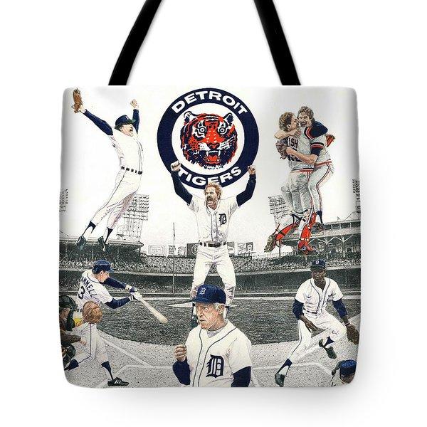 1984 Detroit Tigers Tote Bag
