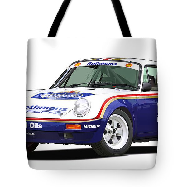 1984 Porsche 911 Sc Rs Illustration Tote Bag