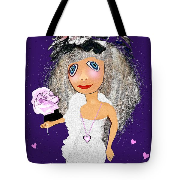 Tote Bag featuring the digital art 1989 -  I Want To Be Loved By You 2017 by Irmgard Schoendorf Welch