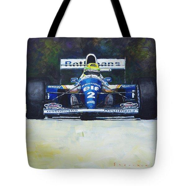 1994 Ayrton Senna Williams Renault Fw16 Tote Bag