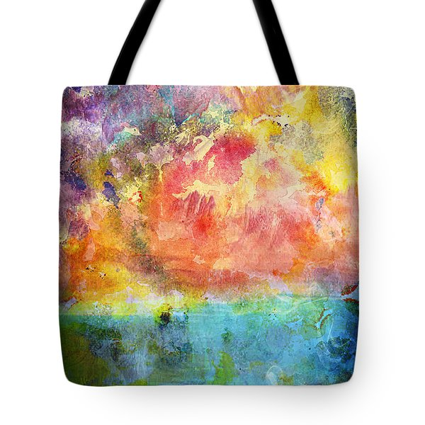 1c Abstract Expressionism Digital Painting Tote Bag