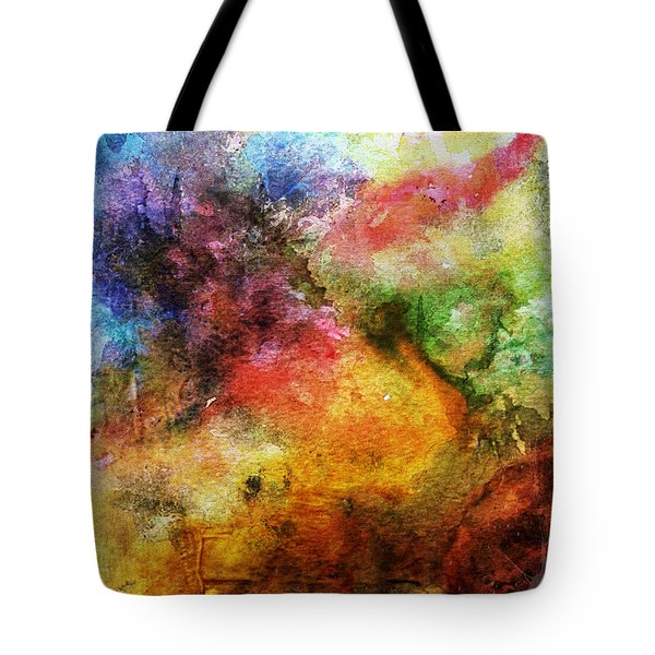 1d Abstract Expressionism Digital Painting Tote Bag