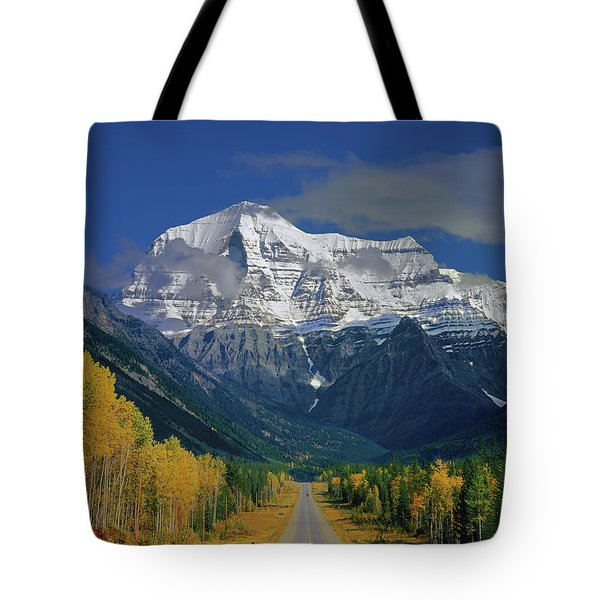 1m2441-h Mt. Robson And Yellowhead Highway H Tote Bag