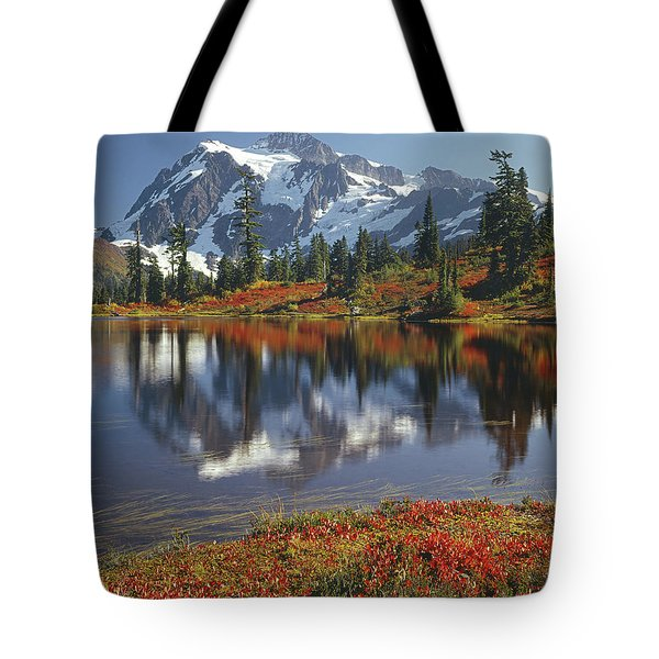 1m4208 Mt. Shuksan And Picture Lake Tote Bag