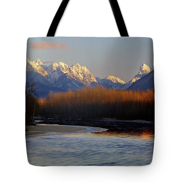 1m4525 Skykomish River And West Central Cascade Mountains Tote Bag