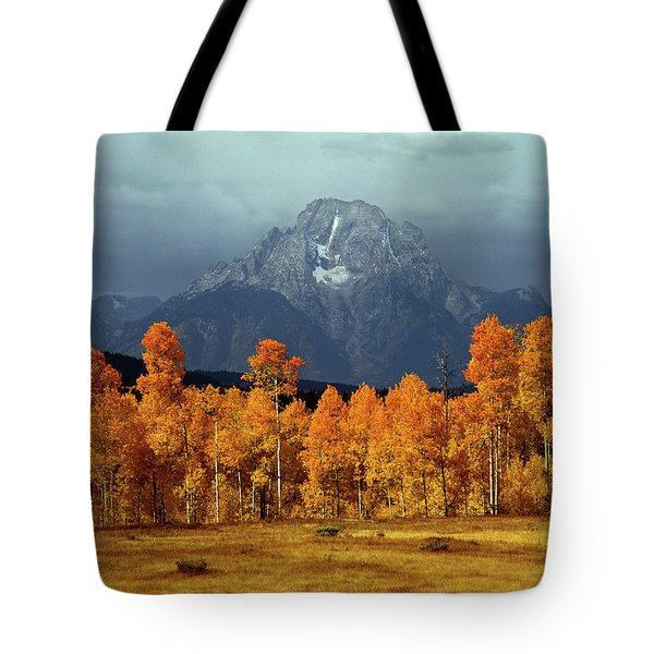1m9235 Mt. Moran In Autumn Tote Bag