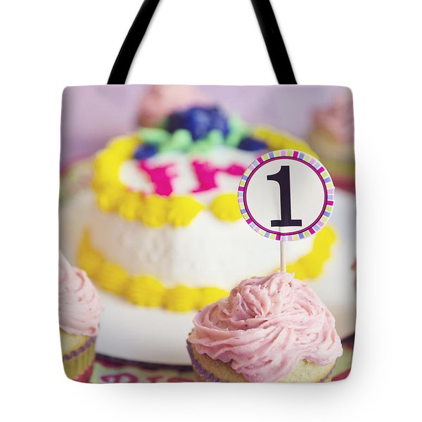 1st Birthday Tote Bag by Cindy Garber Iverson