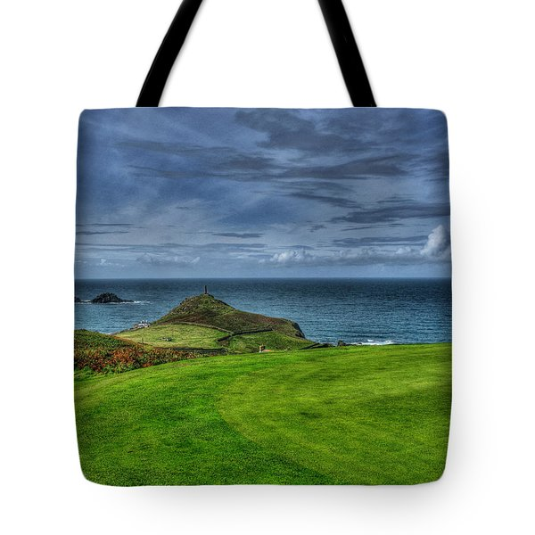 1st Green Cape Cornwall Golf Club Tote Bag by Chris Thaxter
