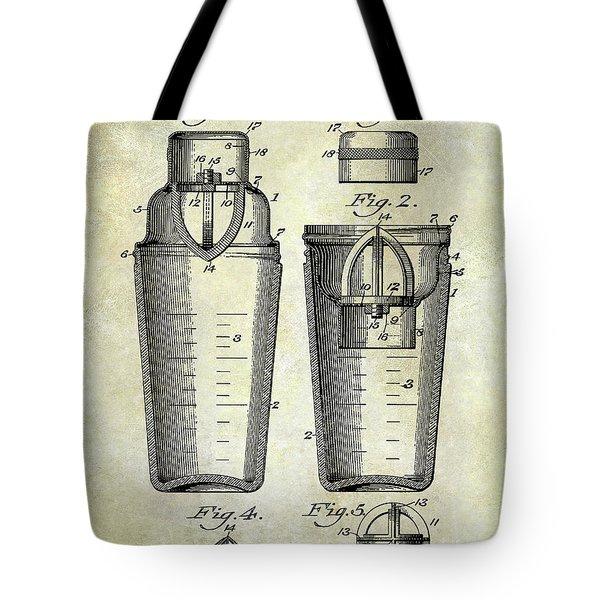 1913 Cocktail Shaker Patent Tote Bag