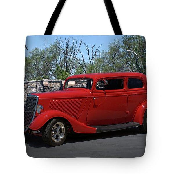 1934 Ford Sedan Hot Rod Tote Bag