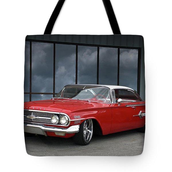 1960 Chevrolet Impala Tote Bag