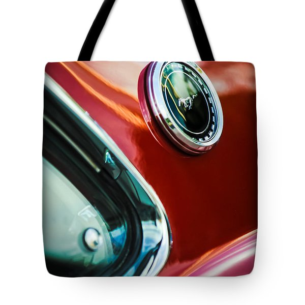 1969 Ford Mustang Mach 1 Emblem Tote Bag by Jill Reger