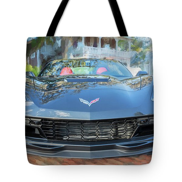 Tote Bag featuring the photograph 2017 Chevrolet Corvette Gran Sport  by Rich Franco