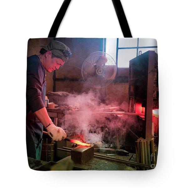 4th Generation Blacksmith, Miki City Japan Tote Bag